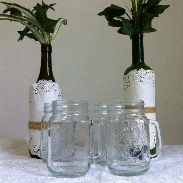 4 Mason Jars