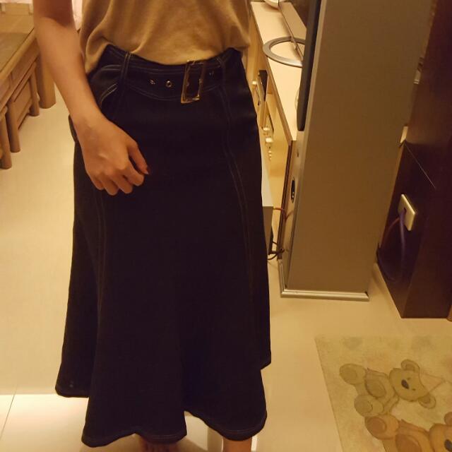 正韓 超美雪紡混萊卡長裙