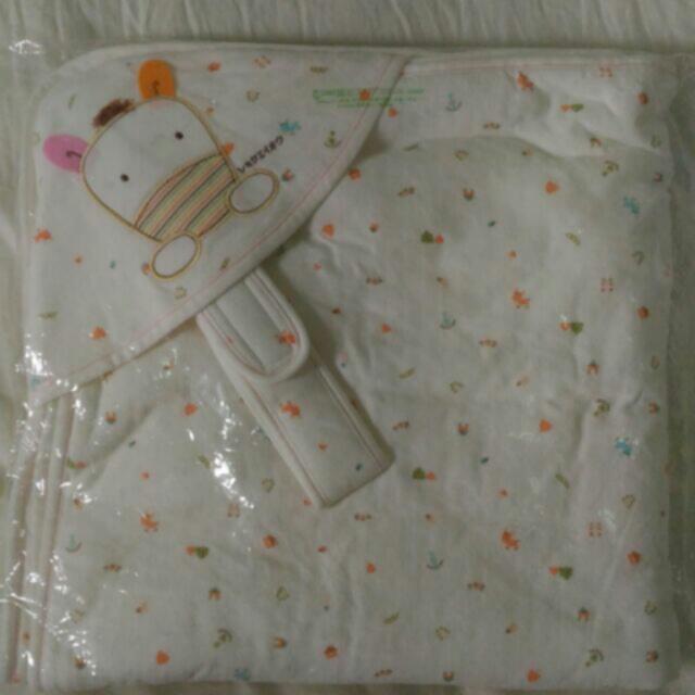 全新 植英房 嬰兒鋪棉包巾