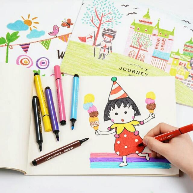 兒童A4繪畫本空白紙素描本x4本【批發】