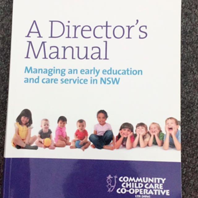 A Director's Manual