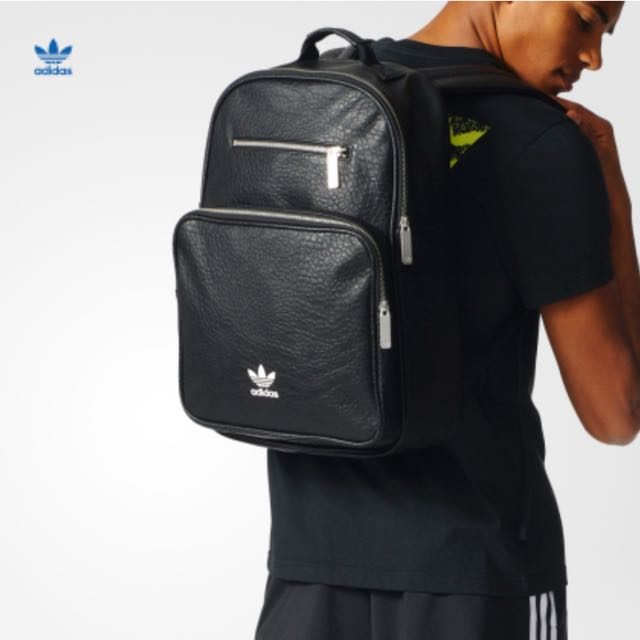 440ba66bb20a Adidas Black Leather Backpack