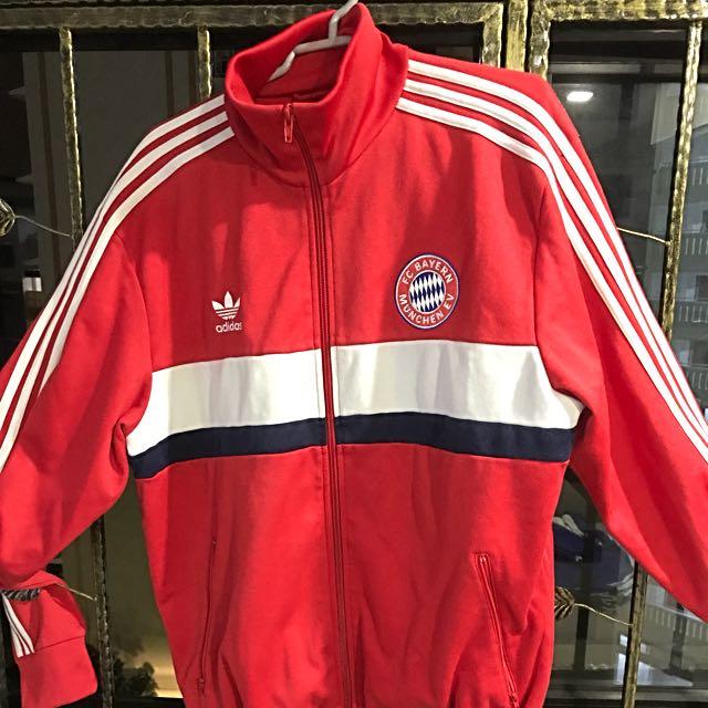 promo code fcc5e a91ce Adidas Original Vintage Bayern Munich Jacket - Size L, Men's ...