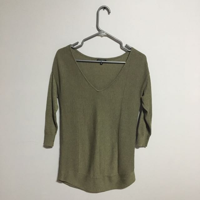 Army Green Dynamite Sweater
