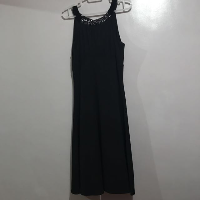 SALE Authentic BCBG Black Halter Dress