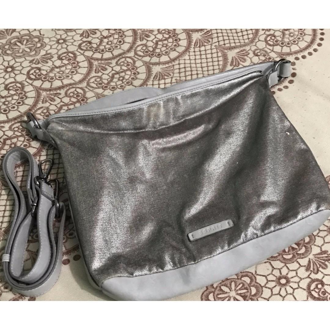 AUTHENTIC Esprit Silver Ladies' Messenger Bag
