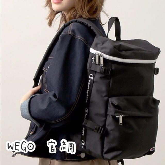 🎀《BeboDomo 》WEGO X Champion 時尚翻蓋冠軍後背包