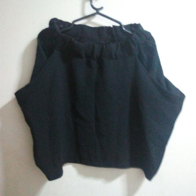 Black Quirky Short Skirt