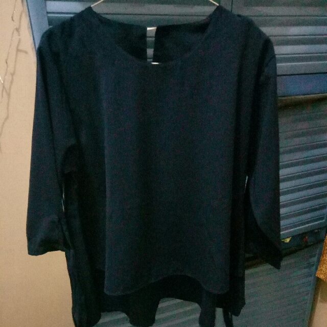 Blouse 3/4 Lengan Pita Layer