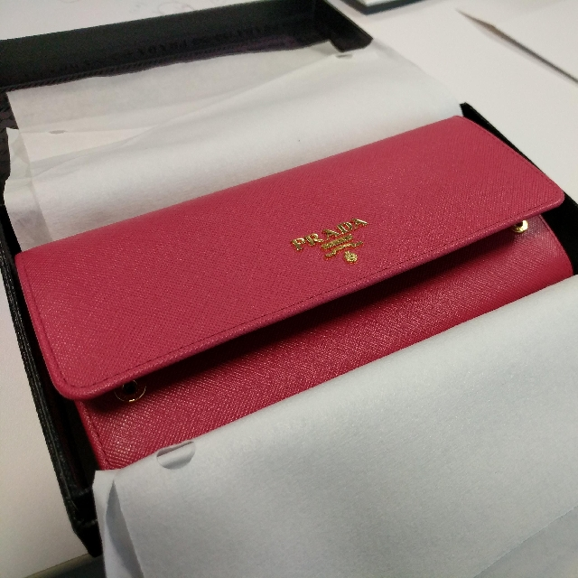 5d0b31a3249f3e ... australia bn prada saffiano metal long flap wallet peonia luxury bags  wallets on carousell 2262c 79fe2