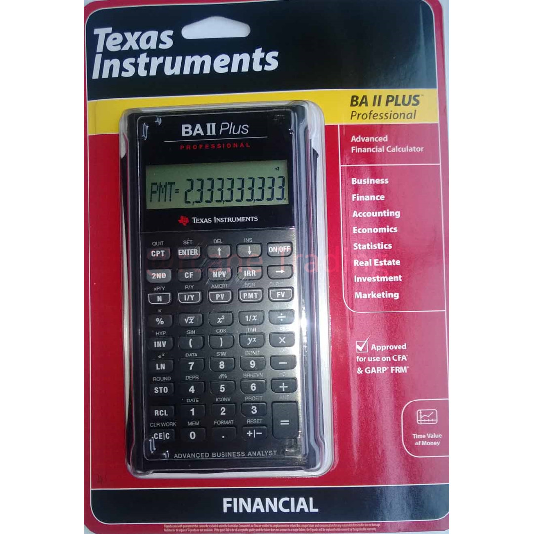 BNIB New Texas Instrument BA II Plus PRO Financial Calculator CFA Approved FRM