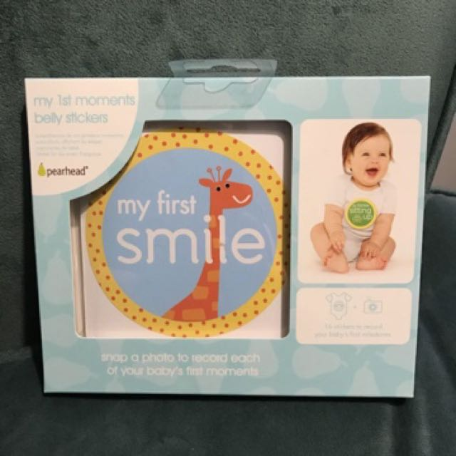 BNIB Pearhead My 1st Moments Belly Stickers