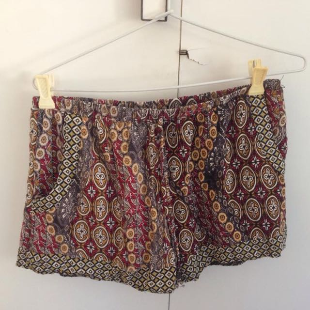 Boho Patterned Shorts