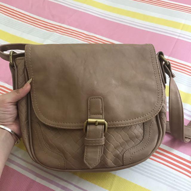 BONITA beige shoulder bag