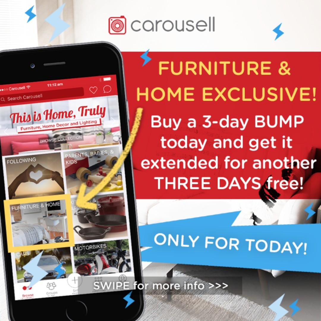 Bump Special: Furniture U0026 Home Items Exclusive!