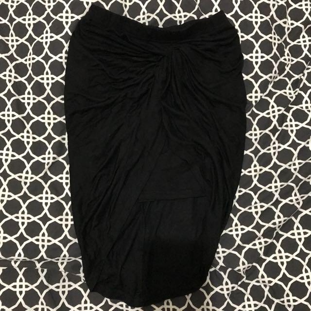 Chicabooti Gathered Knot Mini Skirt