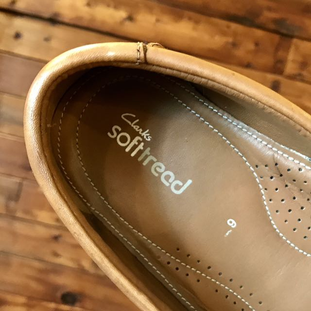 lowest discount good utterly stylish Clarks XL wide Casual Soft Tread (BROWN) 100% leather ...
