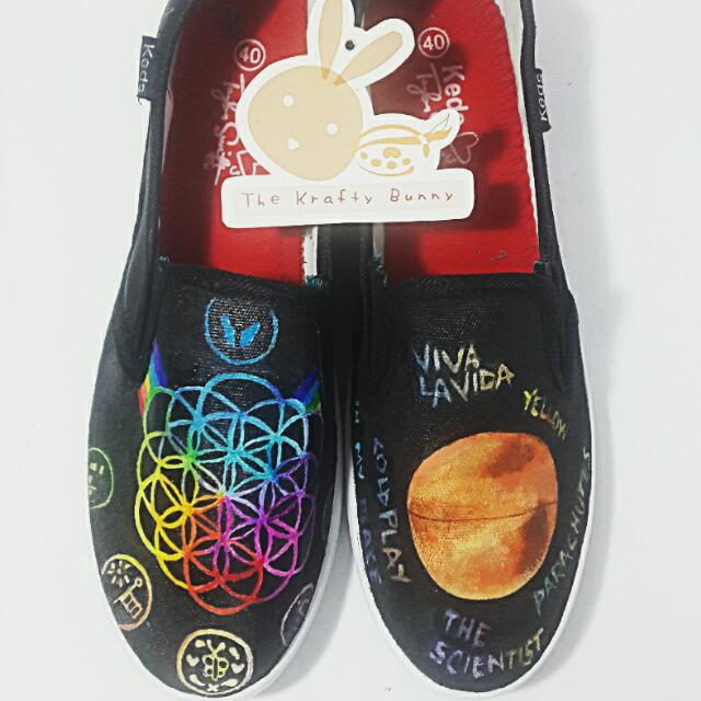 COLDPLAY custom Shoes