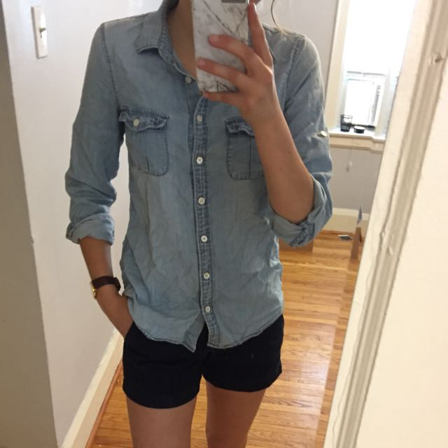 Denim J Crew Button Down