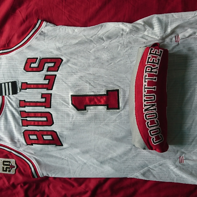 new product 3f63f 33547 Derrick Rose 真網眼Authentic Jersey with 50TH anniversary patch size L