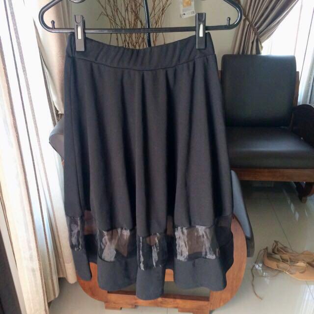 Elegant Organza Silk Pleated Skirts