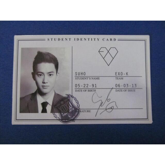 EXO 'XOXO' PHOTOCARD (SUHO)