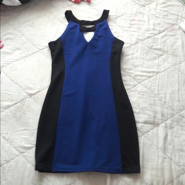 free ongkir.dress with choker