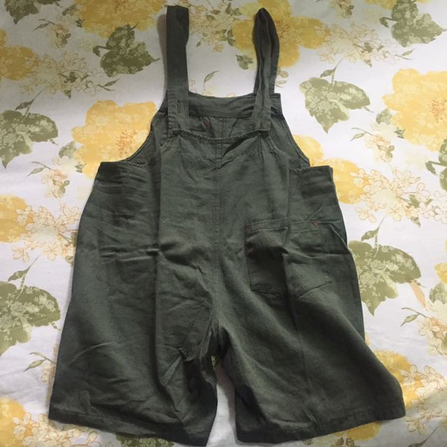 Green Army Overalls (Fit to L)