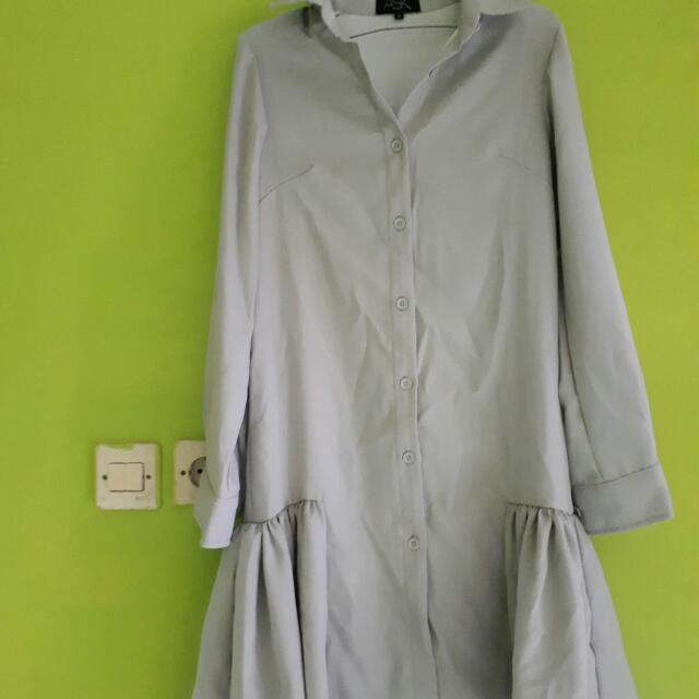 Grey Dress By Ask Free Ong Jabodetabek