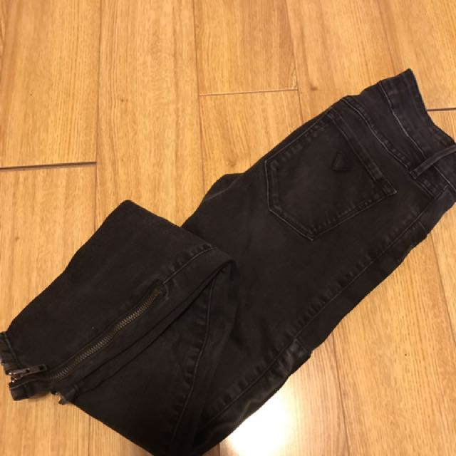 Guess Edgy Black Skinny Jeans