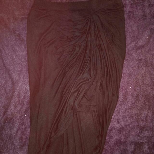 Hi Low Asymmetrical High Waisted Tight Skirt