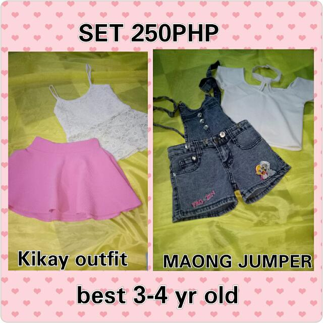 Jumper Maong And Skirt