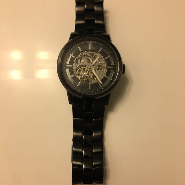 Kenneth Cole Shake Start Skeleton Watch