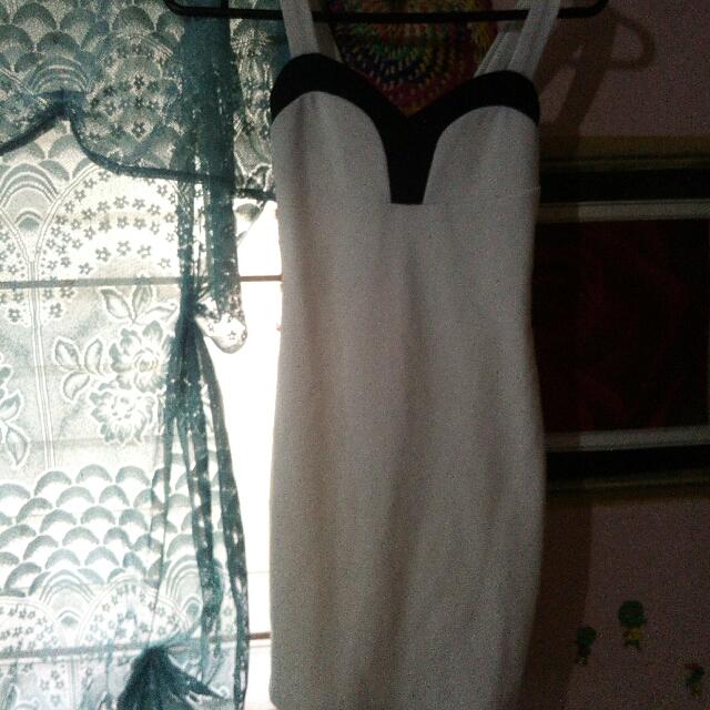Korean Fitted White Dress