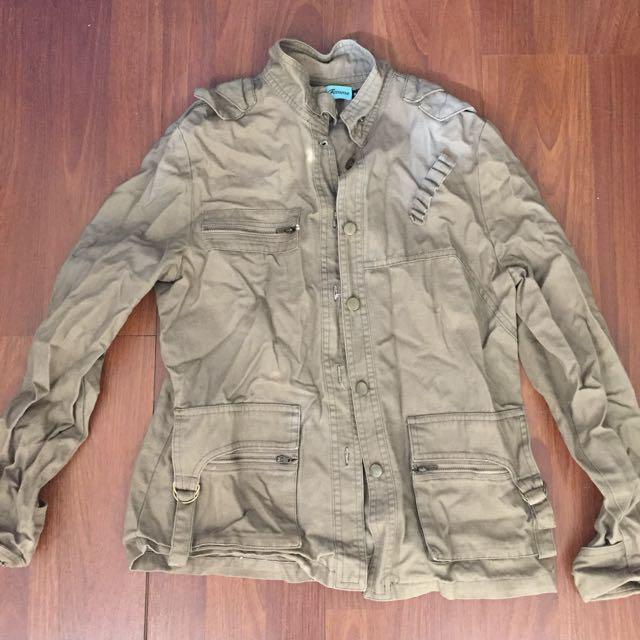 La Femme Brown Khaki Jacket