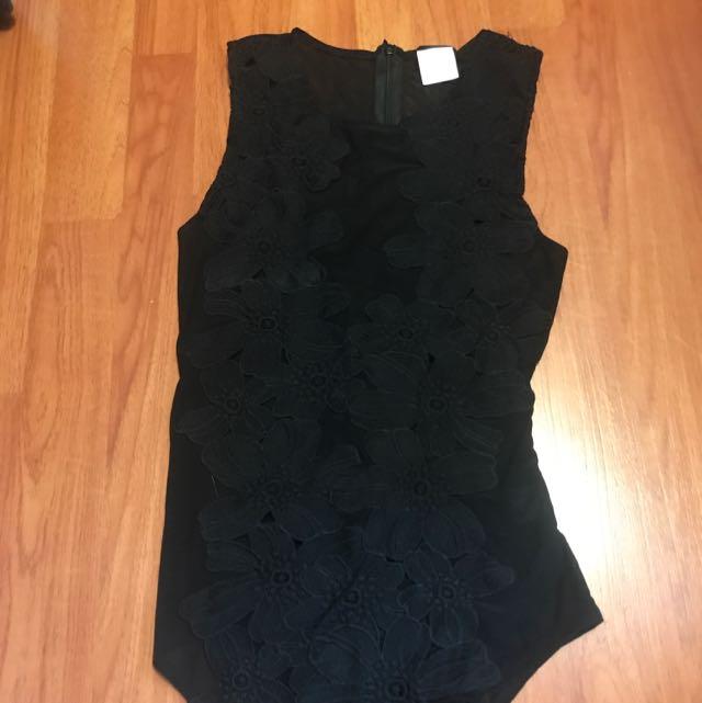 lace & mesh body suit