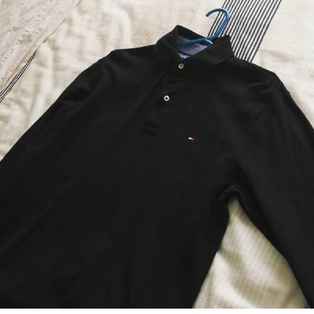 Long Sleeve Hilfiger Polo Black