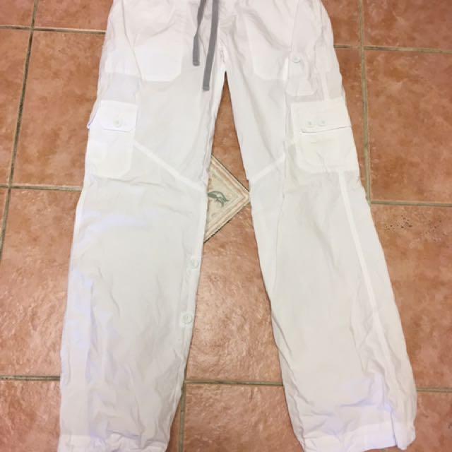 Lorna Jane White Flash Dance Pants Size Small