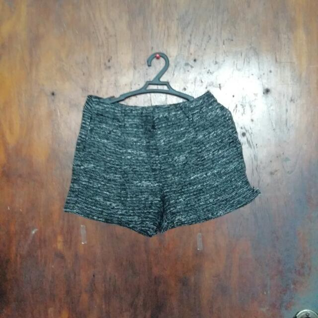 Mango Suit Glittery Party High Waist Shorts