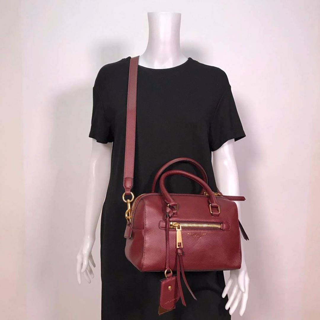 MARC JACOBS RECRUIT SMALL LEATHER BAULETTO