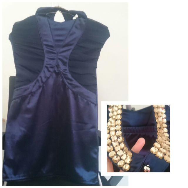Mini Dress Party Navy BKK