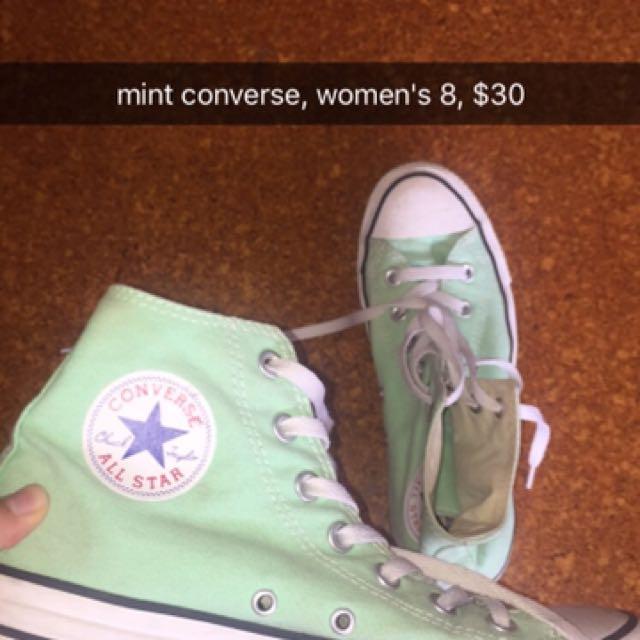 mint women's converse