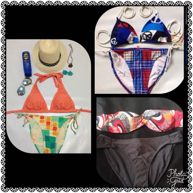 MIXED AND MATCHED 2-PC BRANDED BIKINIS