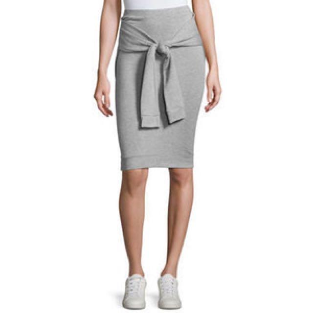 NEW tie Front Skirt