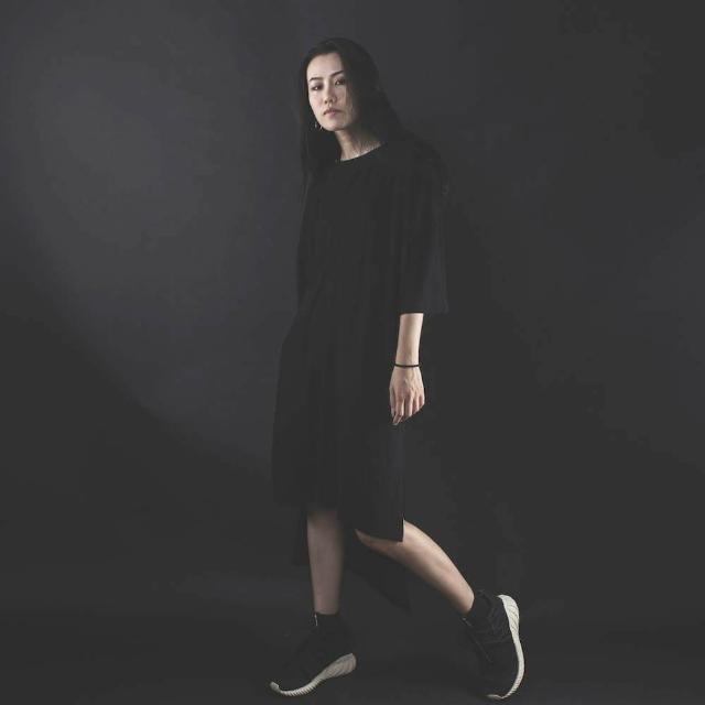 〖雙11購物節〗NEXHYPE長版休閒衣(黑)