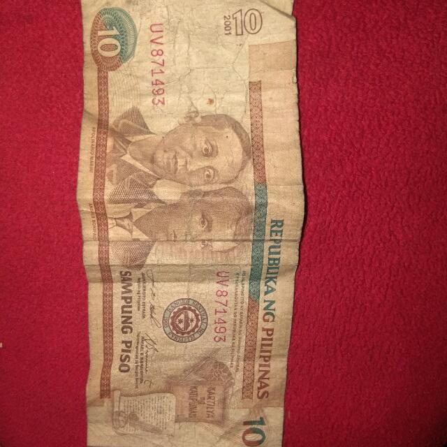 Old 10 Peso Bill