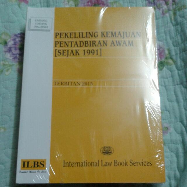Pekeliling Kemajuan Pentadbiran Awam Sejak 1991 Books Stationery Books On Carousell