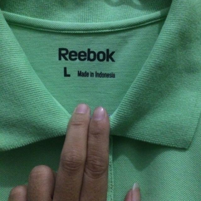polo shirt reebok green
