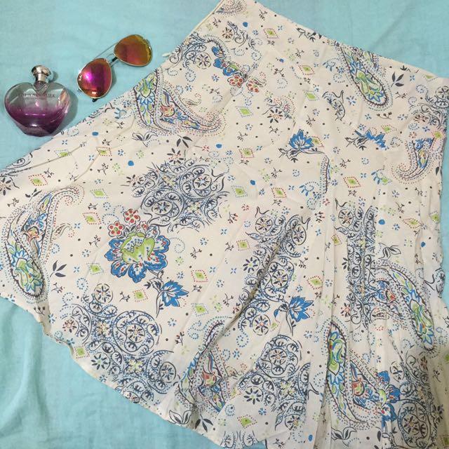 Printed Midi Skirt