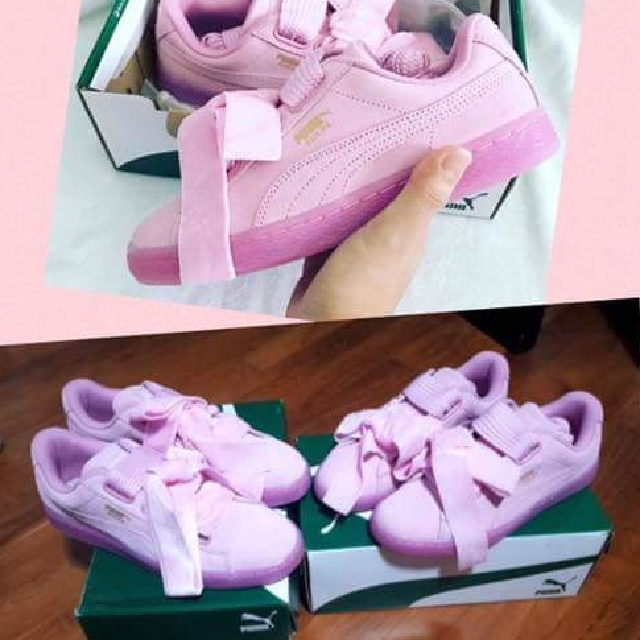 quality design 4314d a1fc5 Puma Suede Heart Reset Pink, Women's Fashion, Shoes on Carousell